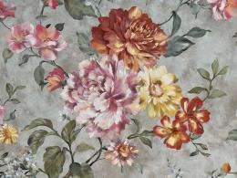 Panama Rosen Carmen, Digitalprint, Stoffbreite 160 cm