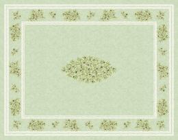 Maussane Provence-Tischdecke, ca. 200x150 cm, grün Oliven, Baumwolle beschichtet