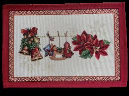 Platzset, Tischset, Weihnachten, Bezauberndes Tischset aus Gobelin, Christstern II