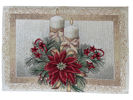 Platzset, Tischset, Weihnachten, Bezauberndes Tischset aus Gobelin, Kerzen