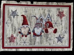 Platzset, Tischset, Weihnachten, Bezauberndes Tischset aus Gobelin, Wichtel