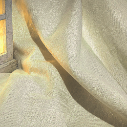 Gold-Lurex, Webstoff für elegante Dekorationen, Breite 140 cm