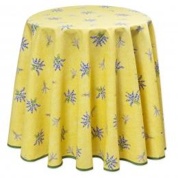 Geb Lavendel, pflegeleicht, Tischdecke rund ca. 180 cm,