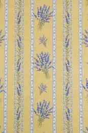 Tischdecke gelb Lavendel  Stripe 130x170 cm, pflegeleicht