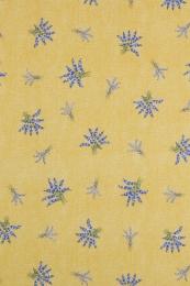 Tischdecke gelb Lavendel allover 120x160 cm