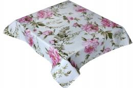 Rosen-Tischdecke, Mitteldecke, ca. 100x100 cm, Prinzess Rose 2, pflegeleicht