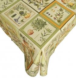 Provence-Tischdecke Olivereae, 300x150cm, Schmutz- und Wasserabweisend, Antitache