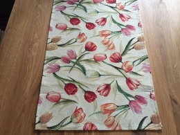 Gobelin Tischläufer Tulpe Natur, ca. 40x140 cm