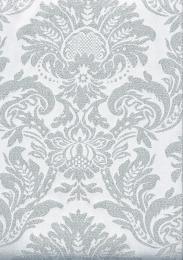 Lurex-Jacquard Weiß-Silber, Breite 280 cm