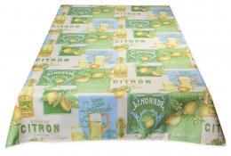 Limonade, abwaschbare Tischdecke, ca. 200x150 cm