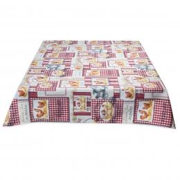 Tischdecke Tolles Hühnermotiv, Landhaus, abwaschbar, ca. 120/160 cm