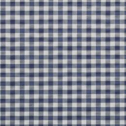 Blau-weiß Karo, kariert, Breite 140 cm, Pflegeleichtes Mischgewebe