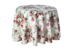 Romantische Tischdecke mit Rosen, 180cm, Motiv Irene, Pflegeleicht