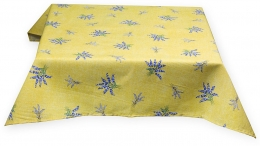 Mitteldecke, gelb Lavendel allover, ca. 100x100cm