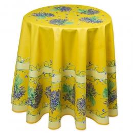 Gelb Lavendel, ca. 180 cm, 100% Baumwolle rund