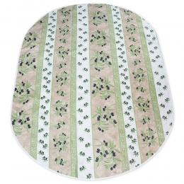 Ovale Tischdecke 200x140 cm Natur Oliven abwaschbar