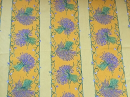 Gelb Lavendel Stripe 160 cm