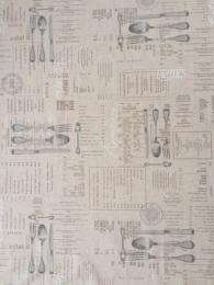 Beschichtete Baumwolle, Bistro, 95x140cm, abwischbar und waschbar