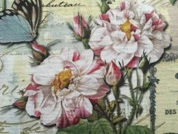 Digitaldruck beschichtet mit Rosen, Breite 140cm