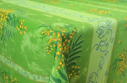 Tischdecke, abwaschbar Mint Mimosen 120x160 cm