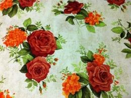 Tischdecke rund 140 cm Panama Rose-Hortensie RE