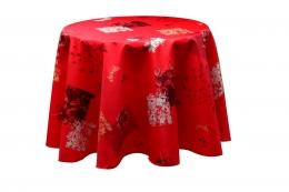 Feuilles cotto, runde Decke, 180 cm, abwischbar