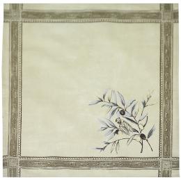 4 Stoff-Servietten Natur Oliven Baumwolle, ca. 40x40cm